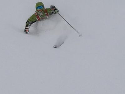 Ski mountain snow