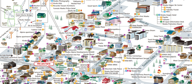 Australia House Niseko Map