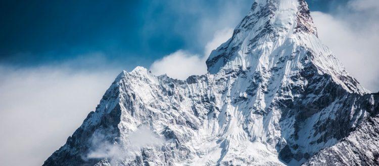 Mountain snow top winter