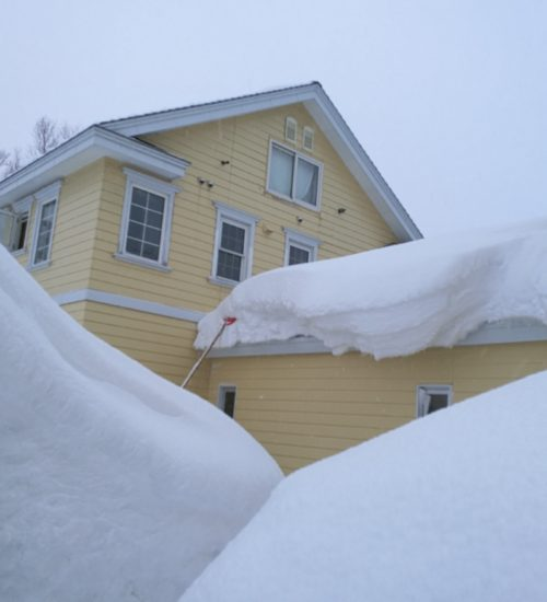 Australia house winter snow